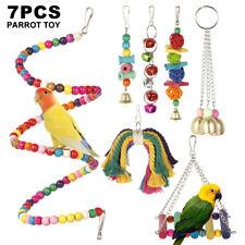 7x Haustier Vogel Papagei Sittich Wellensittich Hängematte Schaukel Spielzeug