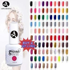 Anlabayle 15ml Gel Nail Polish Base Top Coat Soak Off Varnished UV LED Color DIY