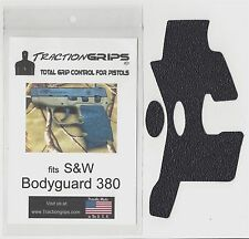 Black Tractiongrips grip tape overlay S&W Bodyguard 380 / textured rubber grips