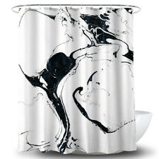 Floral Digital Print Bathroom Waterproof Shower Curtain Decor With Hooks Set 6A
