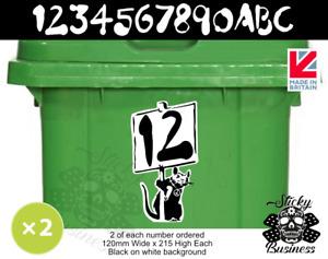 Banksy Stickers Wheelie Bin Numbers Rat Street Art x2 TWO per order 21.5 x 12 cm
