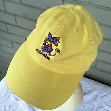 Clark Promotions Crazy Cat Dude Yellow One Size Baseball Cap Hat