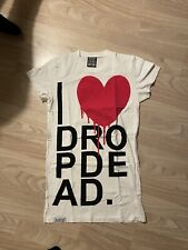 Drop Dead Clothing I HEART DROP DEAD T-shirt Shirt White Grunge Emo BMTH 💜