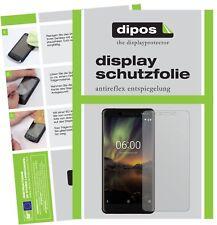 2x Nokia 6 (2018) Screen Protector Protection Anti Glare dipos
