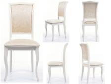 Stuhl Esszimmerstuhl Küchenstuhl Stühle Stoff Creme Landhaus Holzstuhl Beige