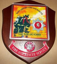 Kent Airport Fire and Rescue Service wall plaque personalised free of charge..