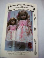"Sisters #3, 10.5"" Boneka and 13"" Little Darling  PATTERN for Dresses, Rompers"