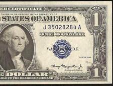 UNC 1935 $1 DOLLAR BILL SILVER CERTIFICATE BLUE SEAL NOTE MONEY Fr 1607