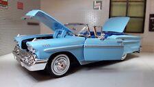 More details for chevrolet impala cabrio 1958 lgb g 1:24 scale diecast model car 73267 blue