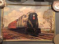 Vintage 1935 Grif Teller PRR  Pennsylvania Railroad Image Sped Safety Comfort
