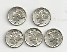 1941-1945 Uncirculated Mercury Dime Set
