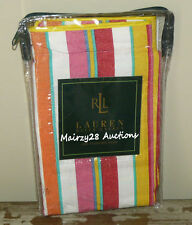 NEW Ralph Lauren BEACHSIDE PREPPY Stripe Orange Pink Red STANDARD PILLOW SHAM