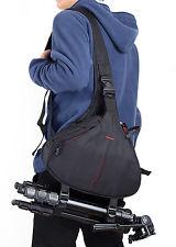 DSLR SLR Sling Shoulder Bag Digital Camera Case Backpack For Nikon Sony Canon