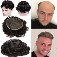 """Strong Topper Toupee Human Hair Wigs Base 6""""*8"""" 8""""*10"""" Comfortable Men's Many US"""
