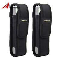 2pcs XTAR Nylon Flashlight Holster Pouch Belt Loop Case Bag for Torch Black