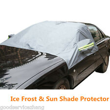 Car Front Windshield + Side Rearview Mirror Snow Ice Frost& Flap Cover Protector