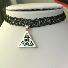 Celtic knot Tattoo Choker Elastic Necklace Pendant Grunge 90s Ying Festival