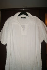 Primark Brand New Mens White Short Sleeved Ribbed Fabric Polo Shirt Size M