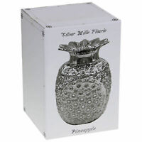 Silver Mille Fleurie Ivory Floral Diamantes Flower Vase Ornament Statue Gift