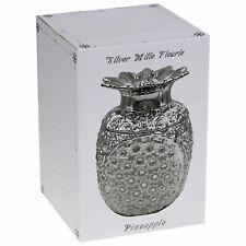 Neu Silber Mille Fleurie Ananas Früchte Strass Aufbewahrung Ornament