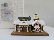 Hawthorne Village Thomas Kinkade ~ Village Christmas Station ~ Euc W/Box