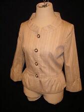 ETCETERA Beige Cotton Blend  3/4 Sleeve Jacket - 2 - NWT