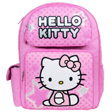 Hello Kitty Star Pink Girls Kids Large Black/Pink Backpack/School/Book Bag