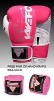 LEATHER BOXING GLOVES MUAY THAI PUNCHING BAG SPARRING GLOVES KICK BOXING