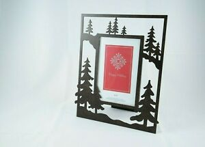 Kohl's Happy Holidays Metal Evergreens 4 x 6 Free Standing Photo Picture Frame