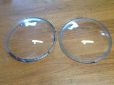 ViNtaGE Pair Macbeth No.11717 convex glass lenses Early HEAD LAMP light