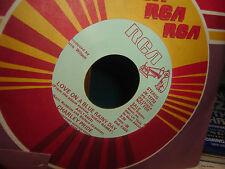 RCA Custom Label PROMO Vinyl 45 RPM Charley Pride Love On A Blue Rainy Day