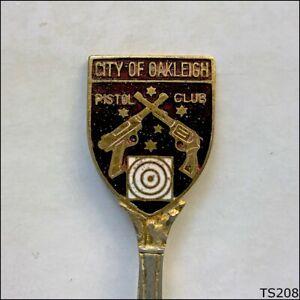 City Of Oakleigh Pistol Club Souvenir Spoon Teaspoon (T208)