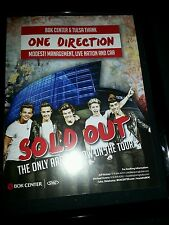 One Direction Sold Out BOK Center Tulsa Rare Promo Ad Framed!