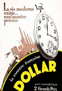 Watch Dollar La Montre Française Anti Magnétique Time 2 Grands Prix Poster Print