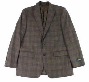 Lauren by Ralph Lauren Men Sport Coat Brown Blue Size 36 R Plaid Blazer $295 057