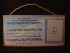 Memory RAINBOW BRIDGE MEMORIAL photo picture frame WOOD PLAQUE Dog Cat Pet sign
