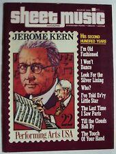 MUSIC BOOK, SHEET MUSIC MAGAZINE, Piano, Organ, Guitar, March 1986 Jerome Kern