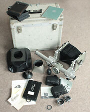 VINTAGE SINAR NORMA 5x4 CAMERA, WITH ORIGINAL CASE AND ACCESSORIES