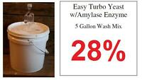 (1) Package Of 5 Gallon Turbo Yeast ---Moonshine Alcohol Whiskey Rum Vodka