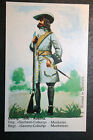 Saxony Coburg Regiment Musketeer  1690  Austrian Army Illustrated Card  VGC