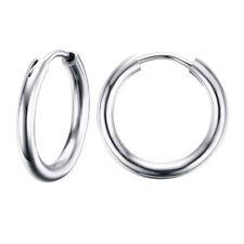 15*2mm Hinged Sleeper Earrings Hoops Stainless Steel Earring Steel Silver