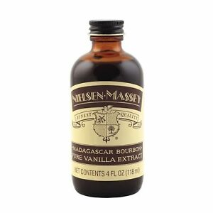 Nielsen-Massey Vanillas, Madagascar Bourbon Pure Vanilla Extract, 4 oz SEALED