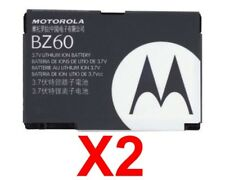 Lot Of 2 Oem Motorola Bz60 Battery For Razr V3,V3A,V3C,V3I,V3M,V3T,V3 Xx,V6 Maxx