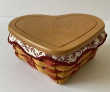 Longaberger 2000 Little Love Heart Basket Set #17728