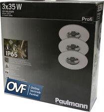 Paulmann 993.45 Nassraum Einbauleuchten IP65 Spots 3x35W Weiß  Bad Dusche 99345
