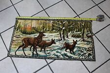 Vintage Deer Buck Carpet Rug Wall Tapestry Hunting Cabin Decor