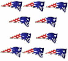 (Set of 10) New England Patriots iron on patches, 3 inch lot embroidered emblem