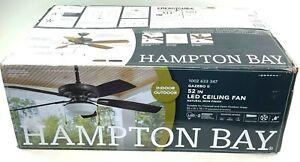 HAMPTON BAY Gazebo 52 in. LED Indoor/Outdoor Ceiling Fan with Light Kit YG188-NI