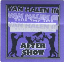 Van Halen Iii 1998 World Tour Backstage Pass Aso Purp