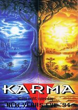 KARMA Rave Flyer Flyers 31/12/94 A4 Perth Illegal Australia Rare